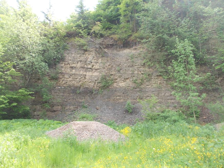 Kamieniołom przy drodze do Kaczyny