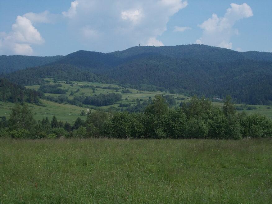 Lubań z niebieskiego szlaku prowadzącego z Czorsztyna