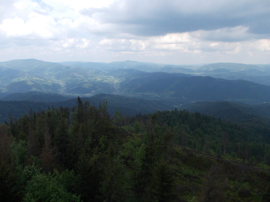 Widoki z wieży na Lubaniu