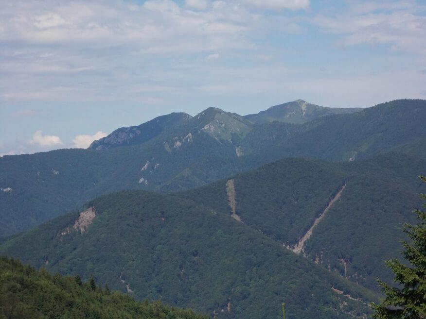 Mała i Wielki Krywań Fatrzański z niebieskiego szlaku do Vrútek