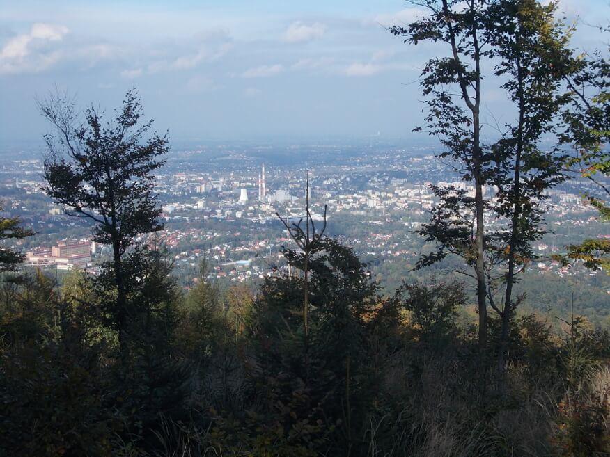 Widok na Bielsko z okolic Koziej Góry