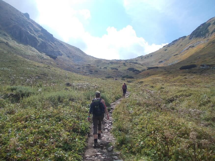 Końcowe podejście na Szeroką Przełęcz Bielską