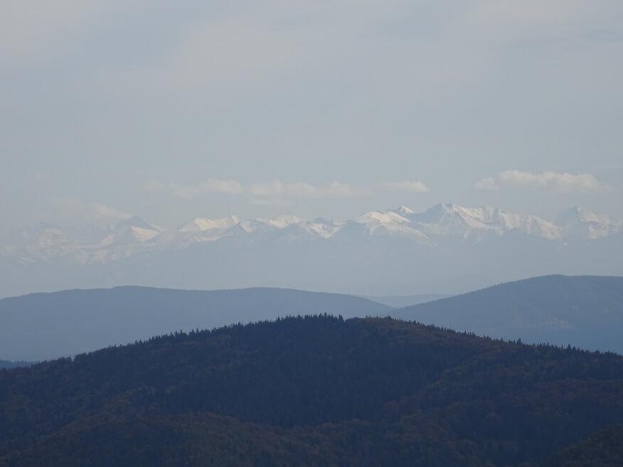 Tatry z wieży