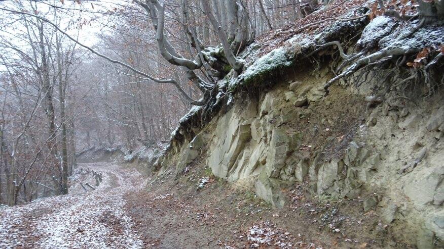 Ciekawe skały przy szlaku na Dzwonkówkę