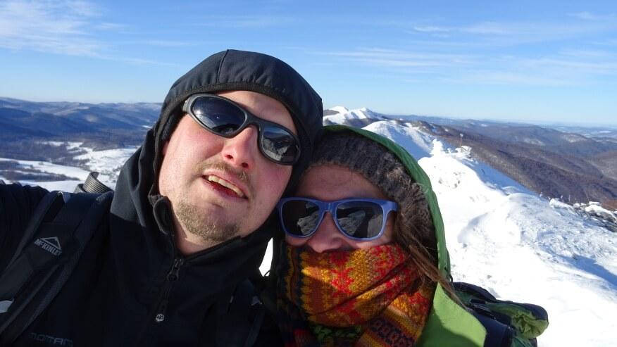 My na najwyższym wierzchołku Połoniny Caryńskiej