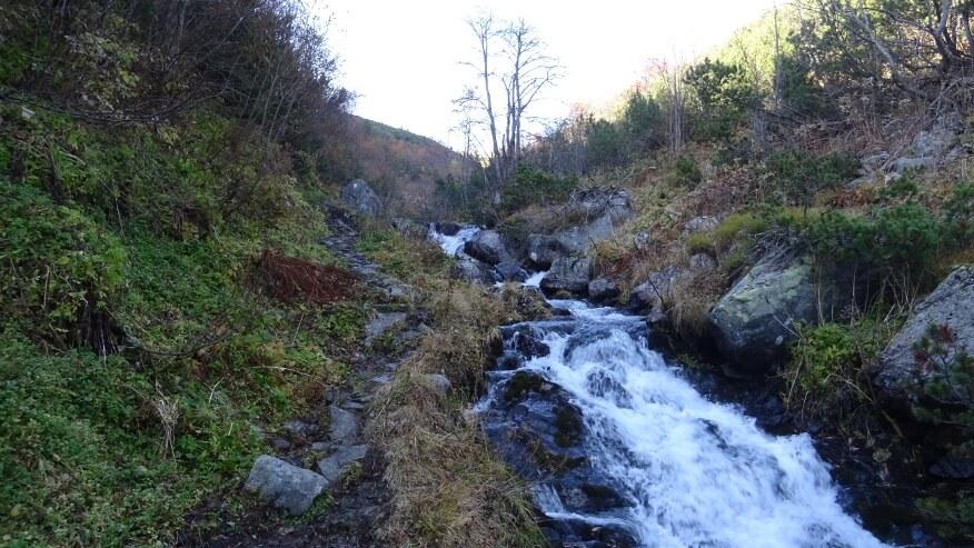 Zalany szlak przy potoku Bystrá
