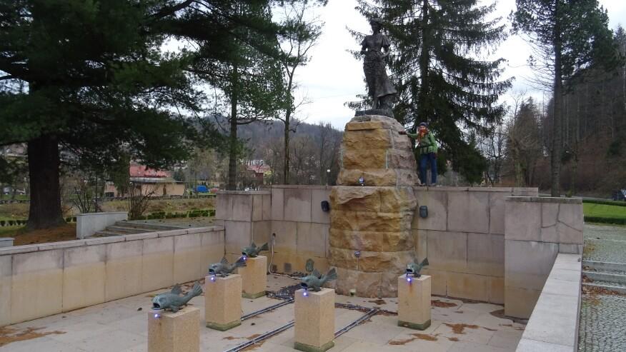 Asia przy pomniku Źródeł Wisły