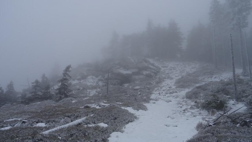 Wielkie głazy na zboczu Czarnej Góry