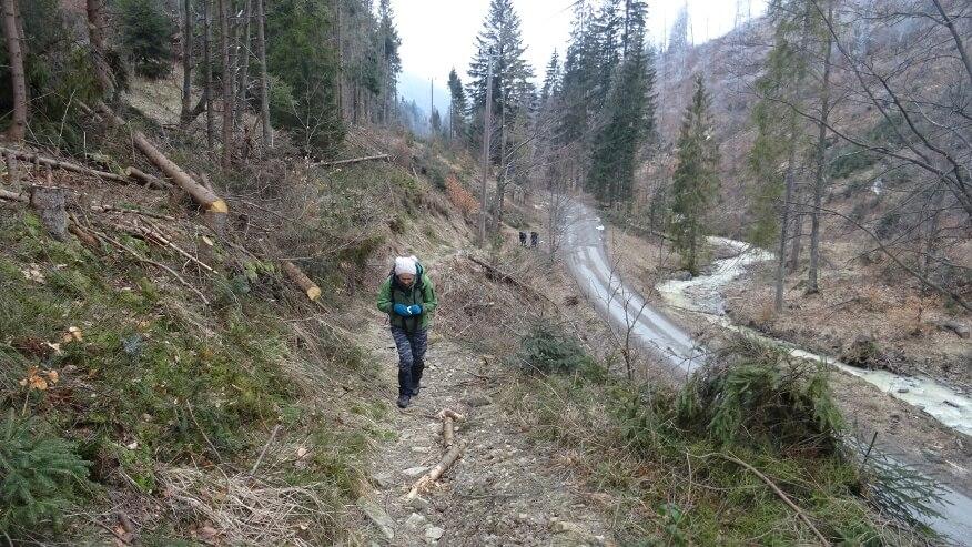 Wspinaczka w kierunku przełęczy Przegibek