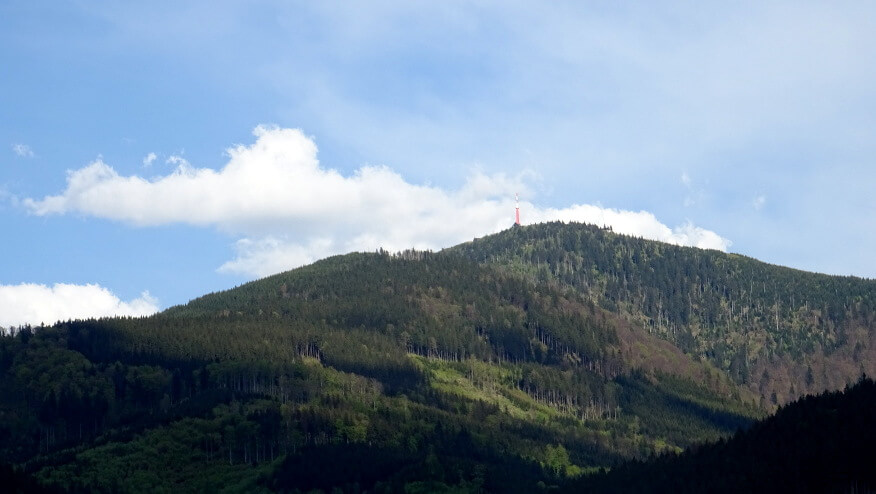 Lysá hora z drogi powrotnej