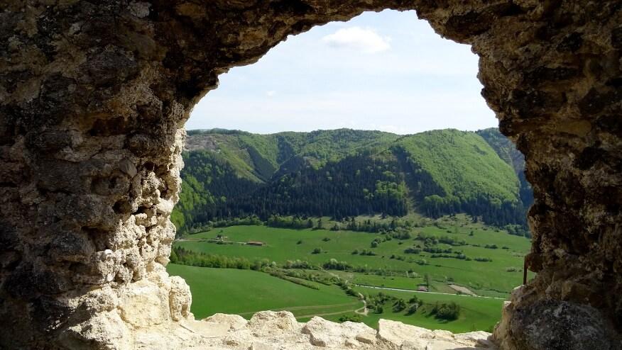 Widok z okna zamku