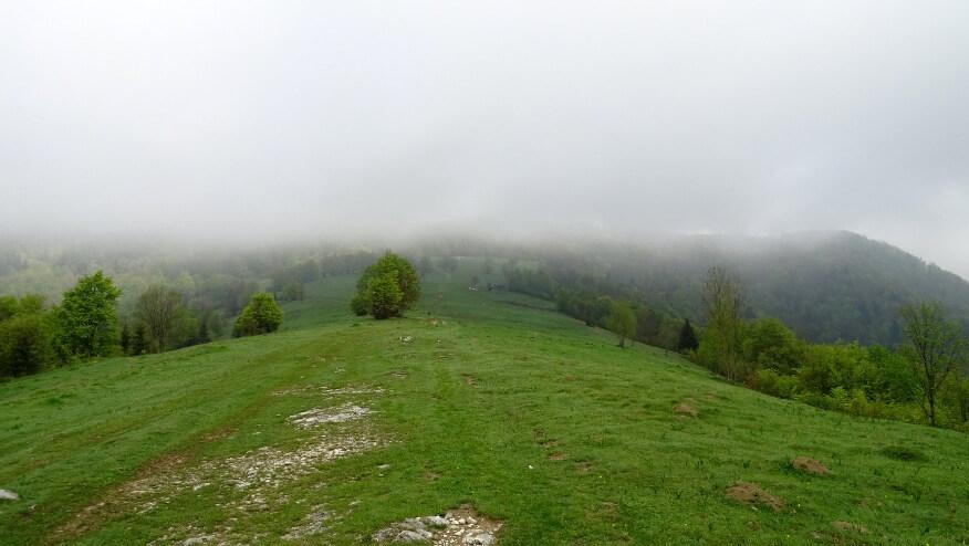 Chmury w wyższych partiach gór