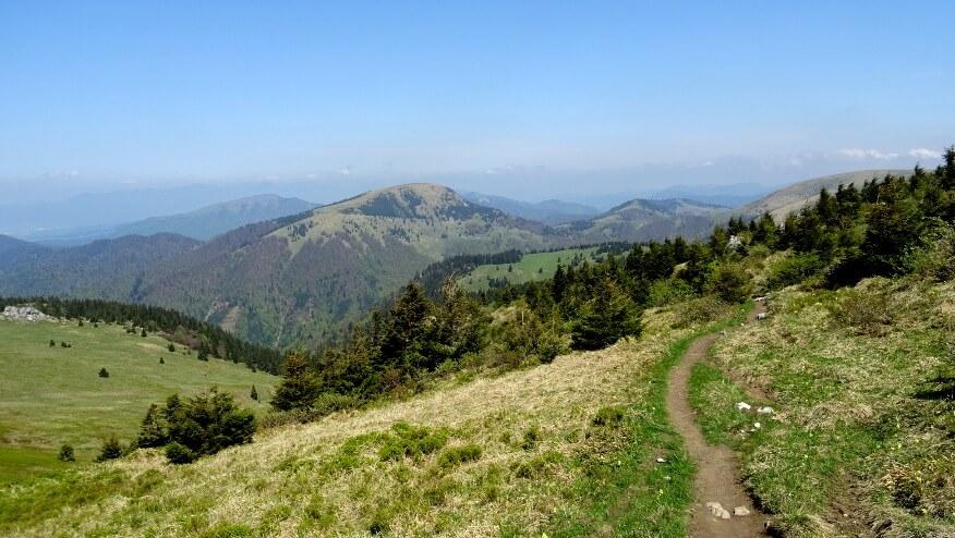 Panorama ze zboczy Suchego vrchu