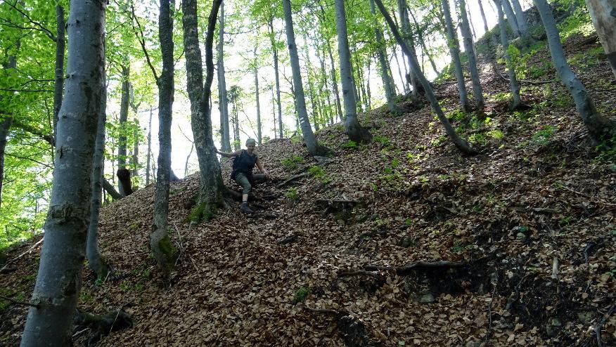 Ostre zejście z Veternego vrchu