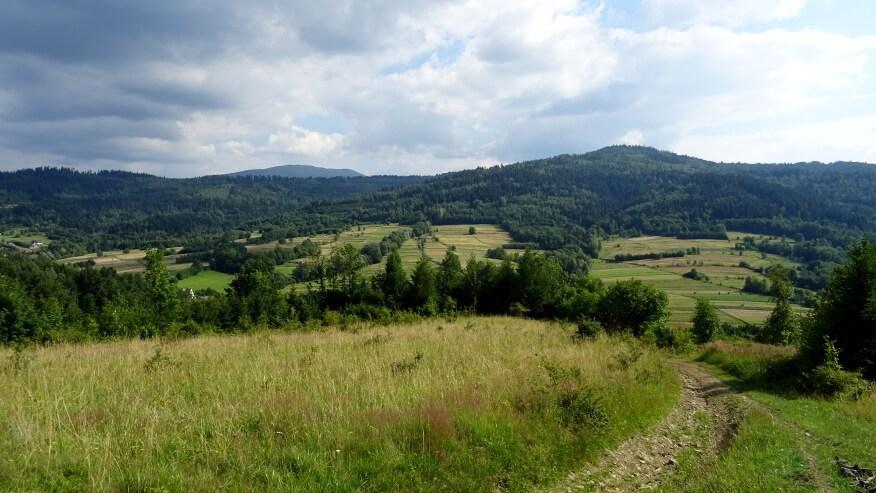 Widoki z podejścia na Jastrzębice