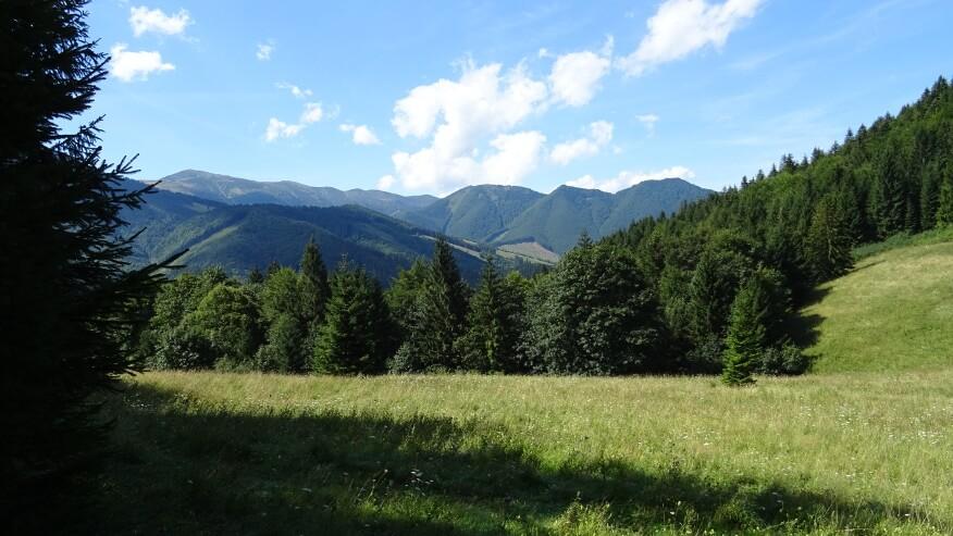 Widoki z przełęczy Vrchpodžiar