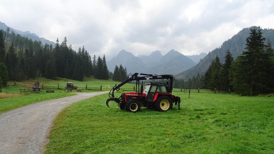 Rolniczy widok z Tatr