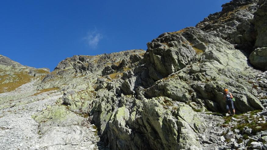 Asia i skały opadające z południowo-zachodniego zbocza Krótkiej