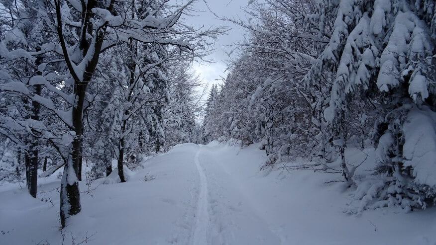 Zimowe krajobrazy Beskidu Małego