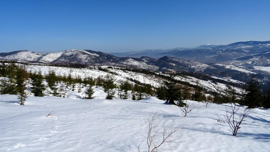 Zimowe beskidzkie krajobrazy