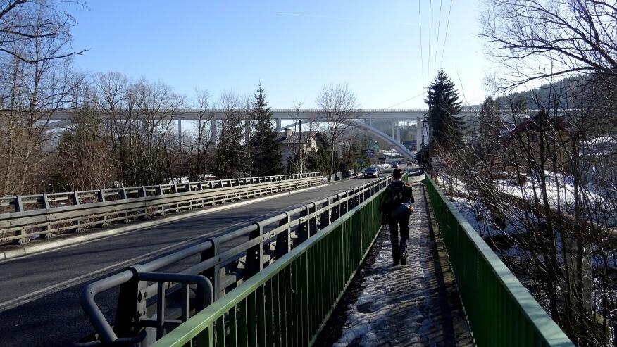 Most na drodze S1 w Kamesznicy