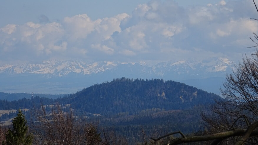 Widoki na Tatry w okolicach Hali Uszczawne