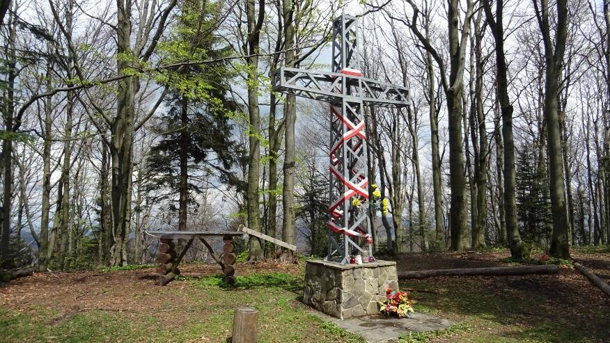 Krzyż na szczycie Lubogoszcza