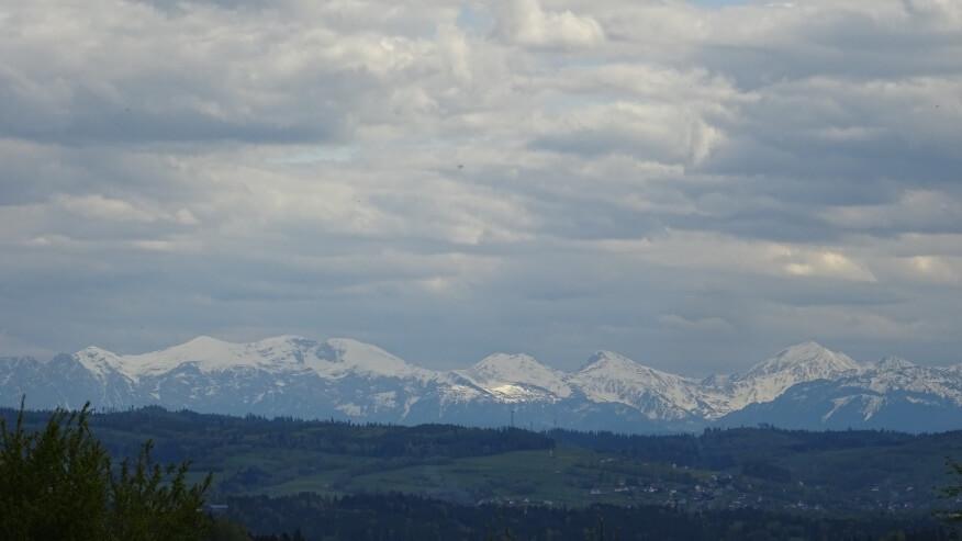 Widok na Tatry z Naprawy