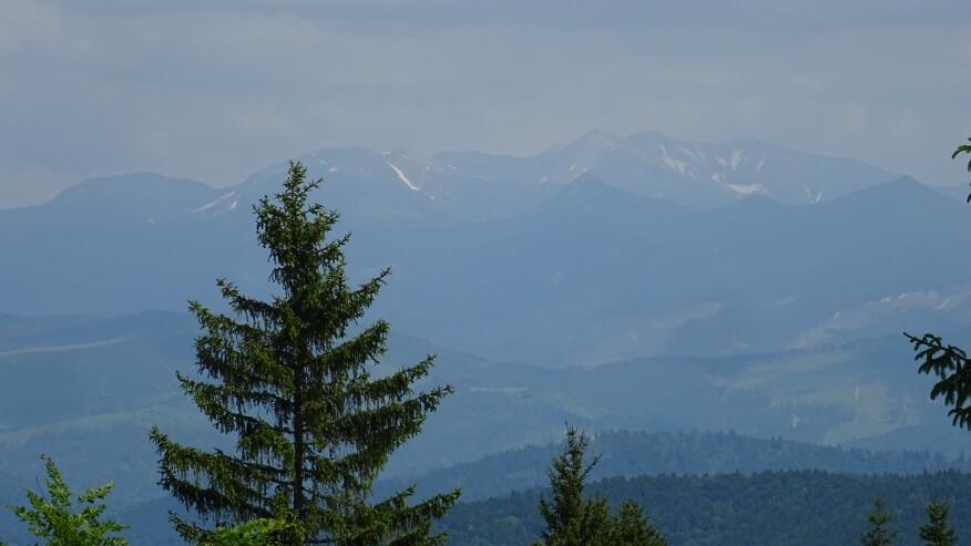 Widok na Tatry Zachodnie