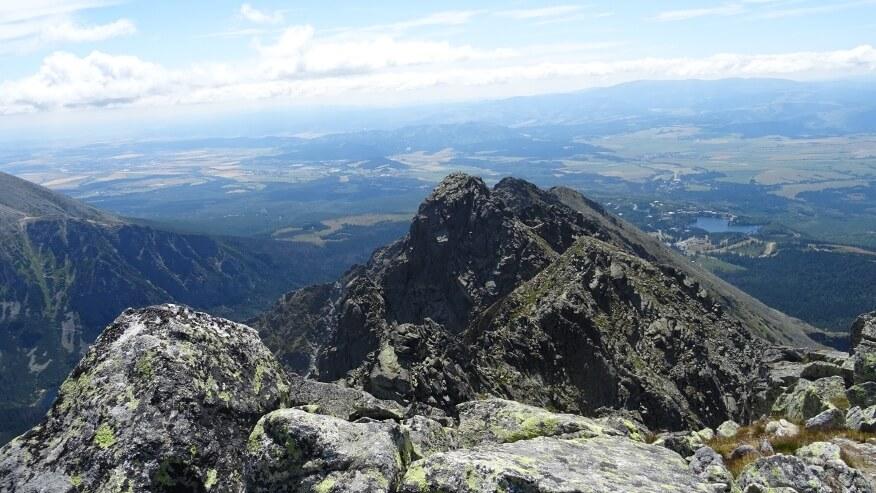 Widok na południową część Grani Baszt