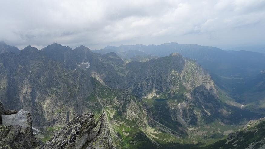 Ganek, Rysy, Niżnie Rysy, Młynarz, a pod nim Dolina Ciężka
