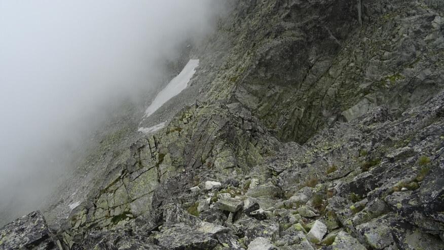 Grań zejściowa na Litworową Przełęcz