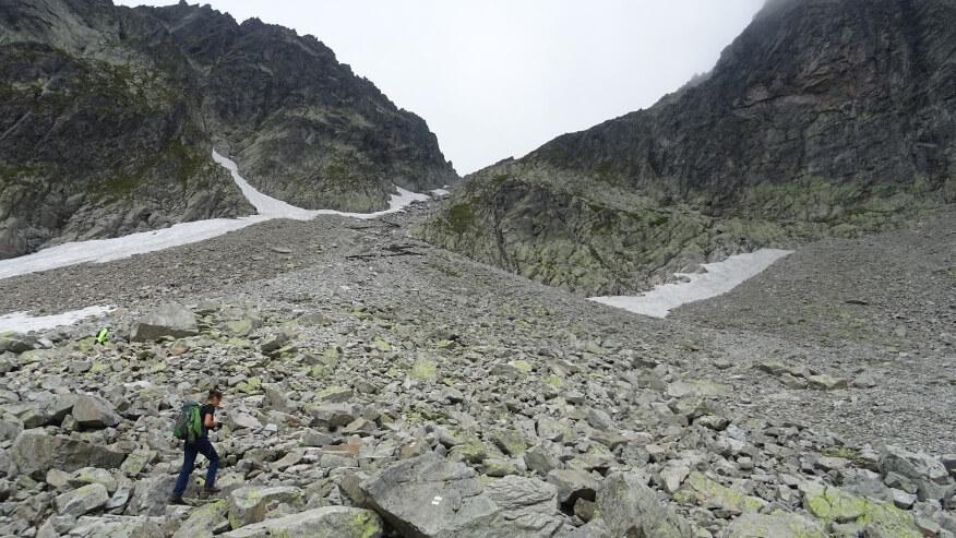 Podejście na Lodową Przełęcz