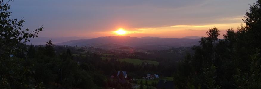 Zachód słońca z Koczego Zamku