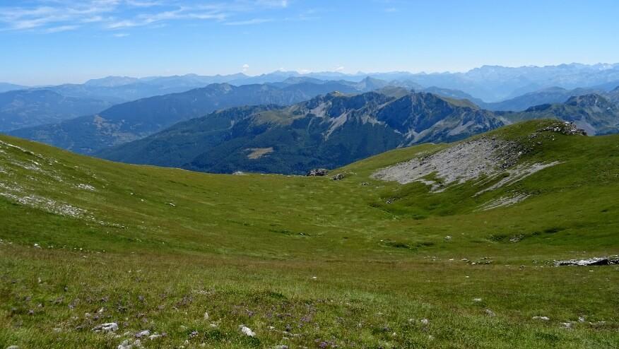 Trawiasta panorama górska