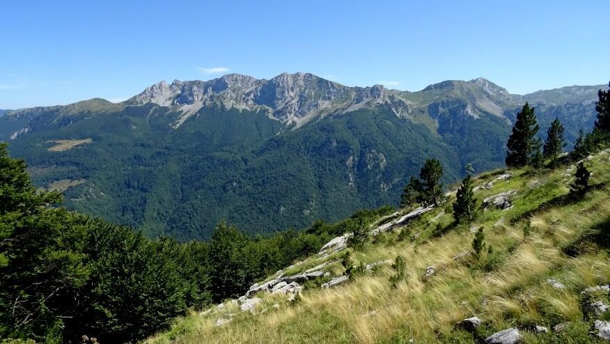 Graniczno-albańskie pasmo górskie