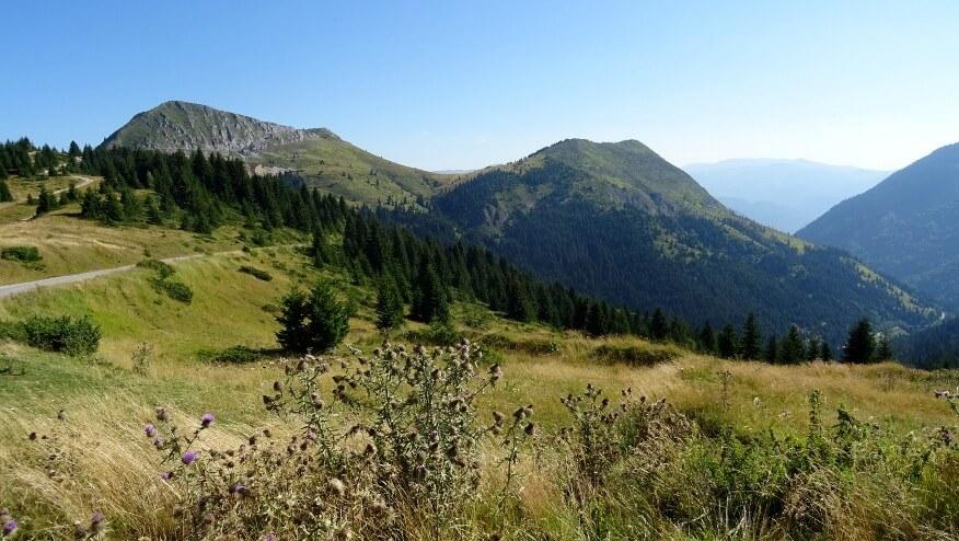 Vaganica i Planinica z Przełęczy Čakor