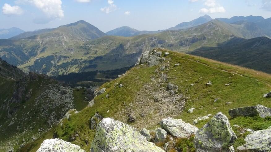 Widok z Hridskiego Krša  (niestety nie znam nazw szczytów :-( )