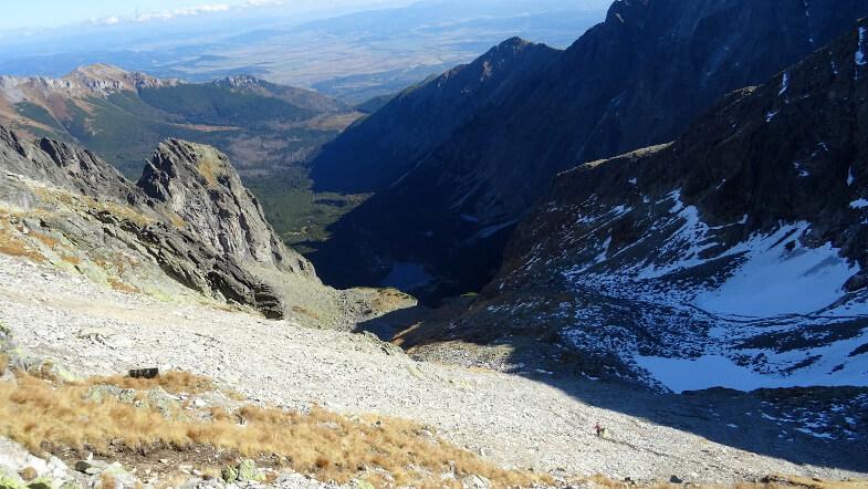Polak schodzący do Doliny Jastrzębiej