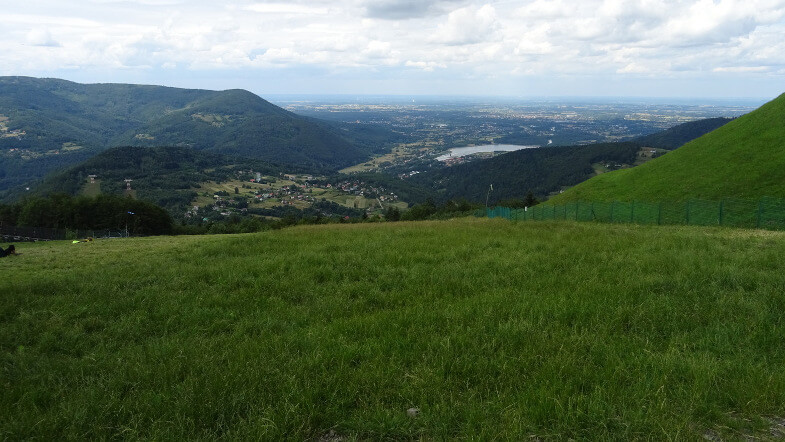 Widok z Żaru na Jezioro Czanieckie i Zasolnice