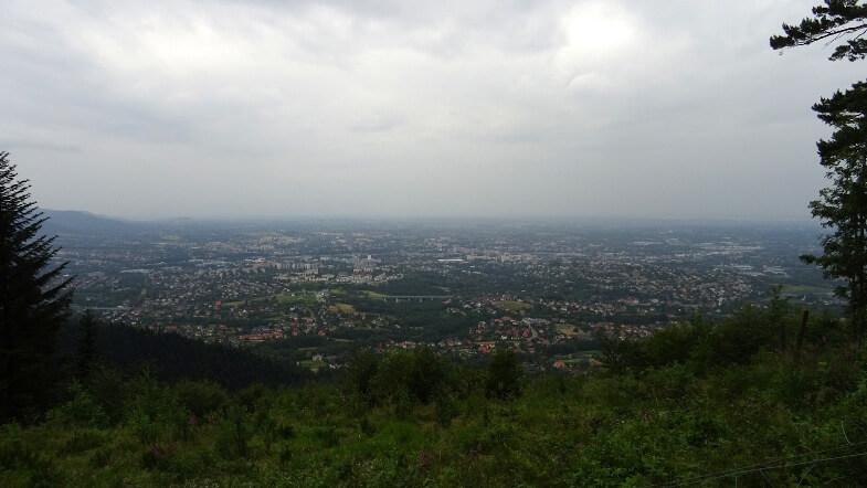 Trochę posępna panorama Bielska i Czechowic