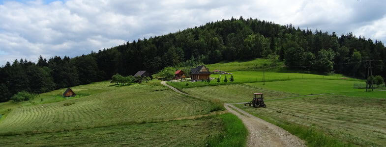 Gołuszkowa Góra z Przelęczy Carchel - Beskid Mały