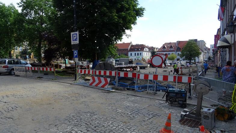 Remontowany rynek w Myślenicach