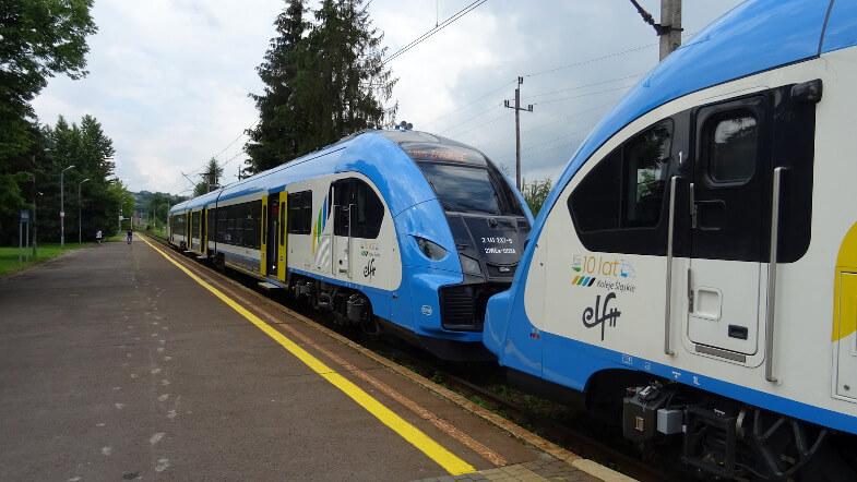 """Nasz pociąg """"ORNAK"""" na stacji Rabka Zdrój"""