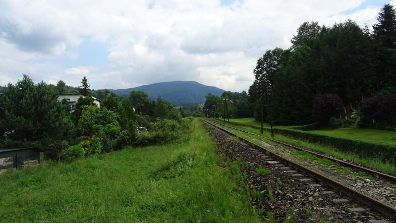 Luboń Wielki z torów kolejowych