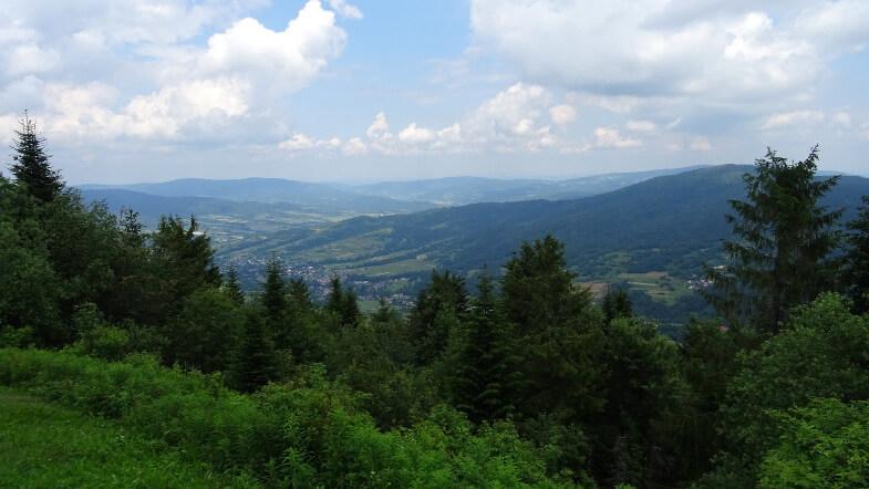 Widok z Lubonia w kierunku Szczebla i Tenczyna