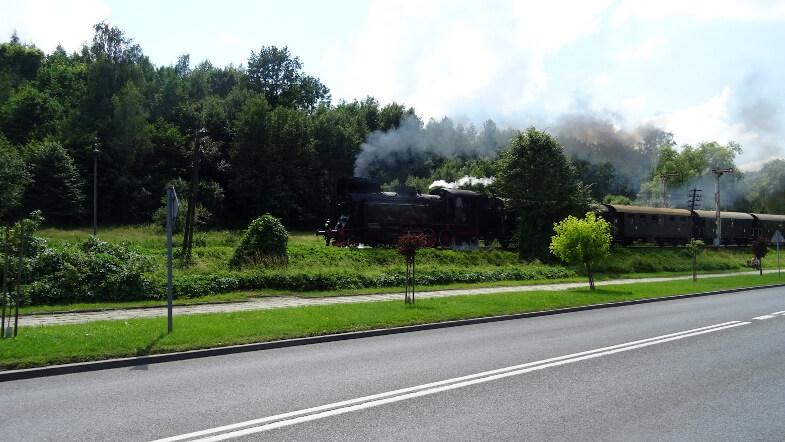 Pociąg retro w Mszanie Dolnej