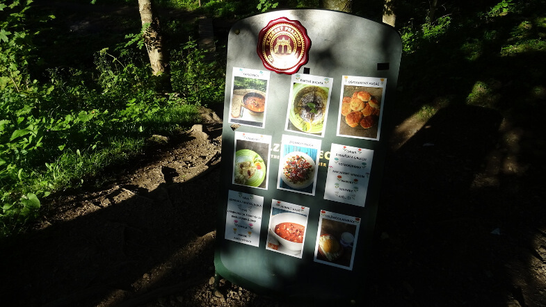 Apetyczne menu przy szlaku