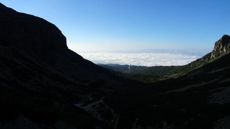 Nad Szczyrbskie Jezioro nadciągają chmury