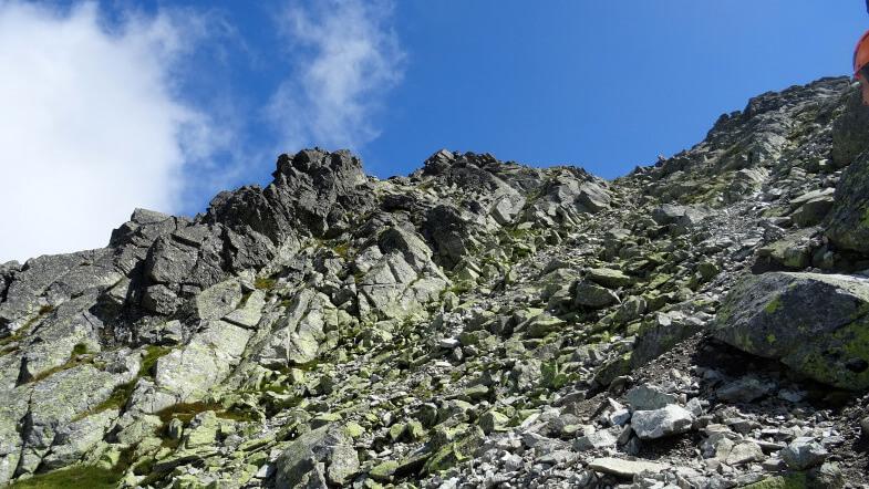 Podszczytowe rumowiska skalne